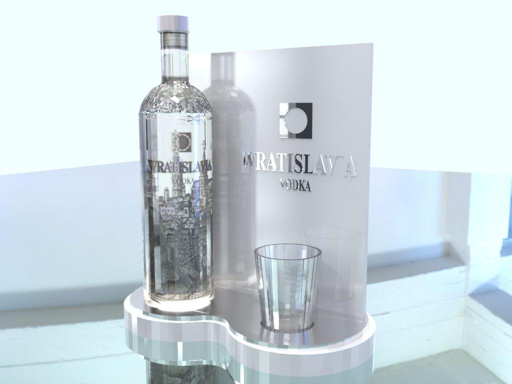 Ekspozytor naladowy na wódkę i inne alkohole