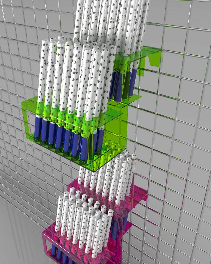Uniwersalny pojemnik modułowy na długopisy