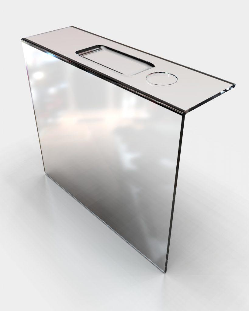 oslona boxu kasowego z plexi cietej laserowo